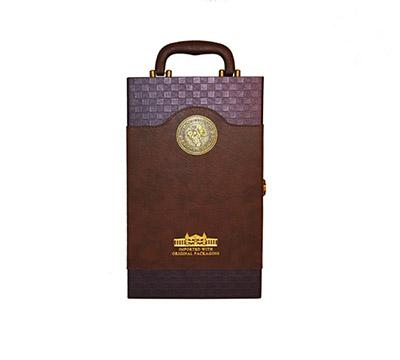 皮制红酒盒