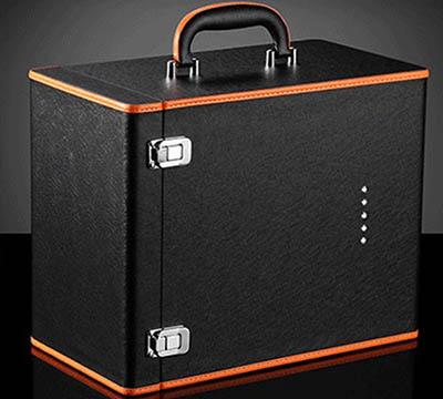六支装红酒皮盒